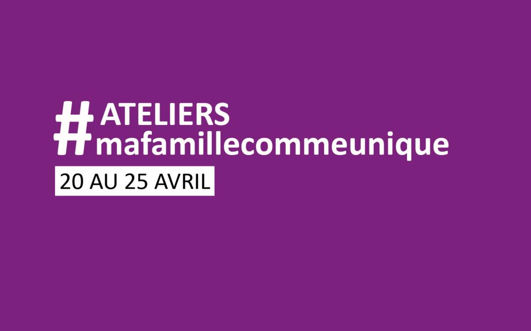 #coconfinement | De nouveaux ateliers du 20 au 25 avril
